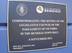 Legislative Council Plaque : 27-November-2014