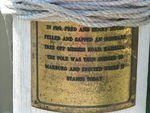 WW1 Flagpole Plaque