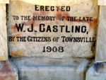 W J Castling Memorial Inscription