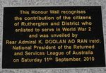 Wall of Remembrance : 26-October-2010