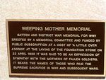 Weeping Mother Memorial Memorial description
