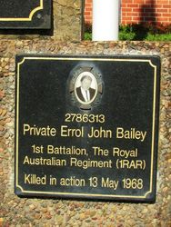 Bailey Plaque : 26-May-2015