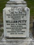 William Petty Memorial