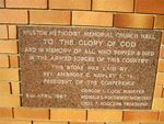 Wilston Memorial Church Hall Plaque : 19-08-2012