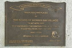 Wommin Bay Village Plaque : 28-May-2017