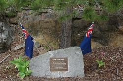 Lone Pine Plaque:10-September-2015