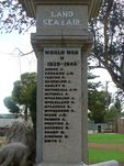 Wycheproof War Memorial   Left Side