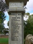 Wycheproof War Memorial   Right Side