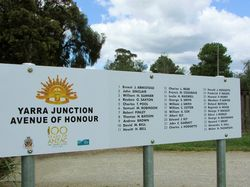 Avenue of Honour Sign: 23-November-2015