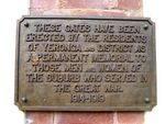Park Road Gates Inscription : 27-05-2014